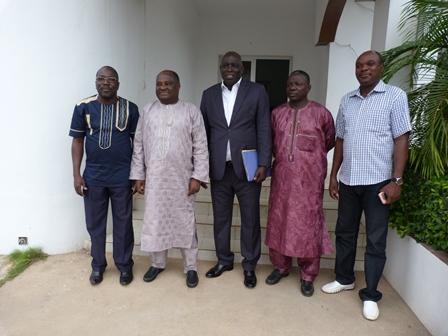Séance de travail entre la HAAC et Madiambal Diagne :  Le président de l'UPF plaide pour le renforcement de la HAAC et des médias au Togo