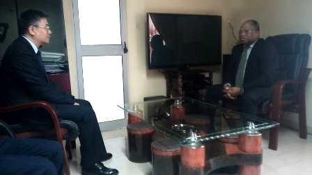 Séance de travail HAAC-Ambassadeur de Chine au Togo, HAAC-CENI, HAAC-UNESCO