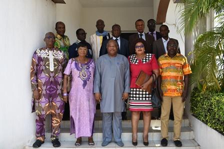 Une délégation du CSC Burkina en visite de travail à la HAAC