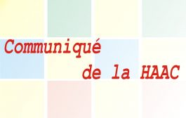 Communiqué de la HAAC N°17/HAAC/2020/P